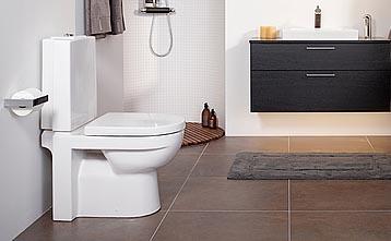 WC-istuin Gustavsberg Artic GBG 4310 design kaksoishuuhtelu 3/6 l