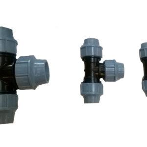 Vesijohdon T-haarat (32mm, 40mm, 50mm ja 63mm)